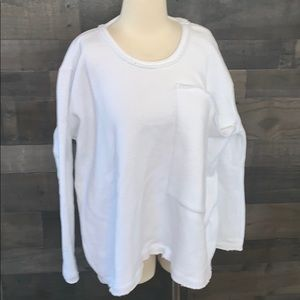 NWT Free People Beach White Sweatshirt